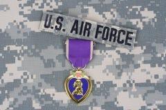 Purple Heart nagroda na wojsko usa mundurze Fotografia Royalty Free