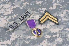 Purple Heart nagroda na wojsko usa mundurze Zdjęcia Royalty Free