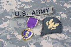 Purple Heart nagroda na wojsko usa mundurze Obrazy Royalty Free