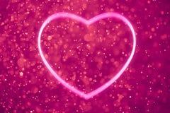 Purple heart shape. Heart shape on shiny purple background stock illustration
