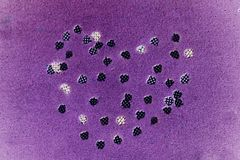 Purple heart shape. Abstract of purple heart shape for background used Royalty Free Stock Image
