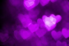 Purple heart shape holiday background Royalty Free Stock Image