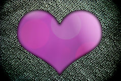 Purple heart shape for  i love you text Royalty Free Stock Photos