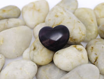 Purple Heart Stone Stock Images