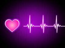 Purple Heart tło Pokazuje Żywy Sercowego I zdrowie ilustracja wektor