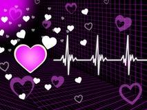 Purple Heart tło Znaczy Organową krew I siatkę ilustracji