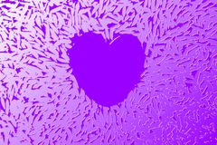 Purple Heart. A Purple Heart for Valentines Day Concept royalty free illustration