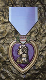 Purple Heart from WW II monument, Savannah, GA. Stock Photography