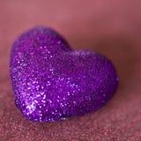 Purple hearts Stock Photo