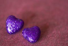 Purple hearts Royalty Free Stock Photos