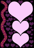 Purple hearts Stock Photo