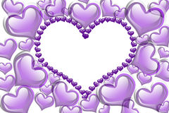 Purple Hearts background Stock Photo