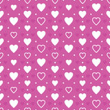 Purple hearts background Stock Images