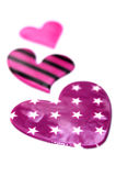 Purple hearts closeup Stock Photo