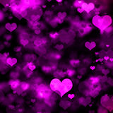 Purple Hearts Galore Stock Photography