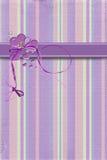 Purple hearts with ribbon Stock Photo