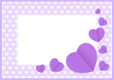 Purple hearts shape on purple pastel color soft for banner background copy space, many heart shape for banner valentines. The purple hearts shape on purple royalty free illustration