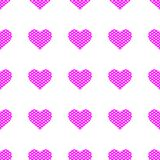 Purple hearts symbol pattern on white background. Heart pattern seamless background vector for web, print, illustration and decoration vector illustration