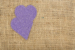 Purple hearts Royalty Free Stock Photo