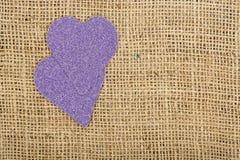 Purple hearts Royalty Free Stock Photo