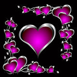 A purple hearts Valentines Day Background Stock Image