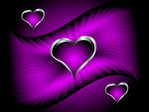 A purple hearts Valentines Day Background Royalty Free Stock Photography