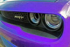 Purple 2016 Hellcat Front Grille. Photograph of a 2016 Purple Hellcats Front Grille royalty free stock photography