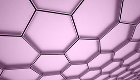 Purple hexagons cell Royalty Free Stock Images
