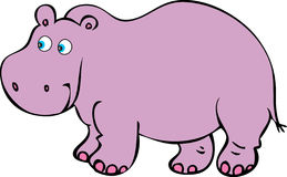 Purple Hippopotamus. A cartoon  illustration of a friendly plumb purple hippopotamus Royalty Free Stock Photo