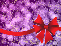 Purple holiday's background with bokeh Stock Photography