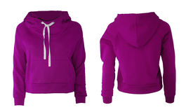 Purple hoodie Stock Photo