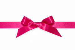 Purple horizontal ribbon with bow Royalty Free Stock Image