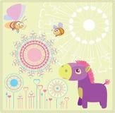 Purple horse Stock Photo