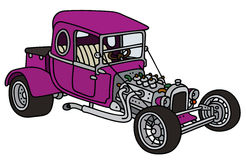 Purple hot rod Royalty Free Stock Image