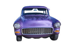 Purple hotrod sedan front Stock Photography