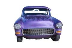 Purple hotrod sedan front Stock Photography