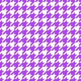 Purple hounds tooth Stock Image