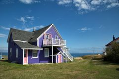 Purple roof top in Magdalen island Royalty Free Stock Photography