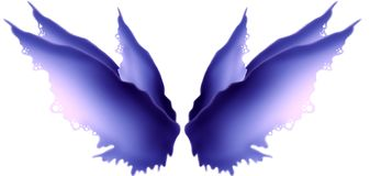 Purple Hued Fairy Wings. Premade purple fairy wings with pink highlights. PNG format also Royalty Free Stock Photography