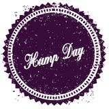 Purple HUMP DAY distressed stamp. Illustration image concept Stock Image