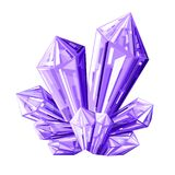 Purple Ice Crystal Vector illustration. On White Background Royalty Free Stock Photo