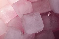 Purple ice cubes Royalty Free Stock Images