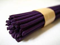 Purple Incense. Sticks royalty free stock photos