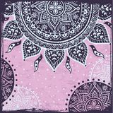 Purple Indian sun ornament Stock Photos