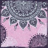 Purple Indian sun ornament Stock Photos