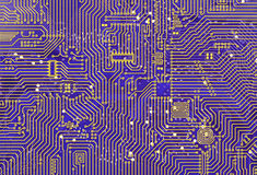 Purple industrial circuit board backdrop Stock Photography