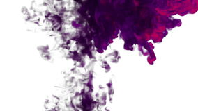 Purple Ink in water move in slow motion with alpha mask. VFX Flow of Ink or smoke for transitions, background, overlay stock video footage