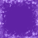 Purple inky splash frame border Royalty Free Stock Images
