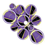 Purple innovation. Creative design of abstract purple figure Royalty Free Stock Photography
