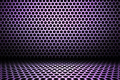 Purple interior background of circle mesh pattern texture Royalty Free Stock Photos